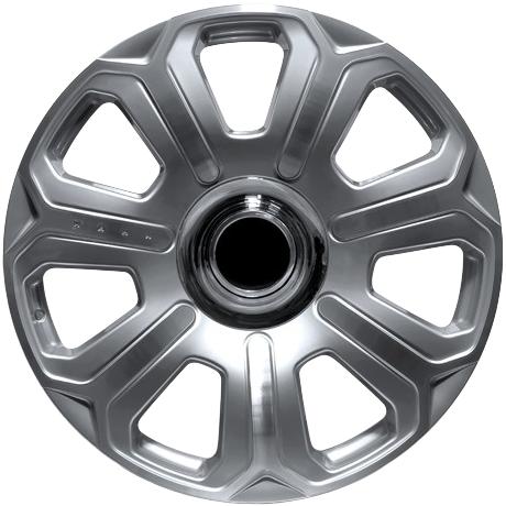 "22"" x 9.5"" Kahn Silver Mist Rolls Royce Diamond Cut Silver ET35"