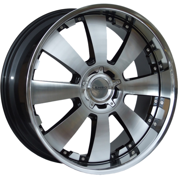 "22"" x 9.5"" Lenso Concerto Gloss Black/ Polished Face&lip ET22"