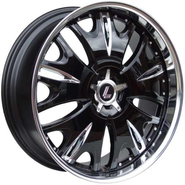 "22"" x 9.5"" Lenso Grande 9 Gloss Black/ Mirror Lip ET25"