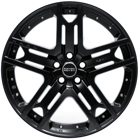 """22"""" x 9.5"""" Kahn RS 600 Matte Black ET45"""