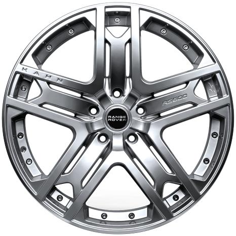 """22"""" x 9.5"""" Kahn RS 600 Platinum Silver ET45"""