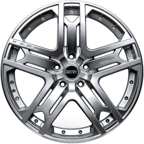 """22"""" x 9.5"""" Kahn RS 600 Platinum Silver ET50"""