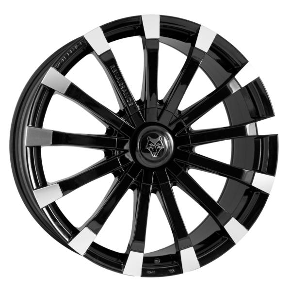 """18"""" x 8.5"""" Wolf Design Renaissance Black & Polished ET45"""