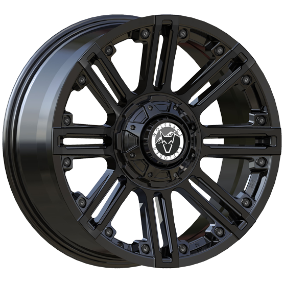 "20"" x 9"" Wolfrace Amazon Gloss Black ET10"