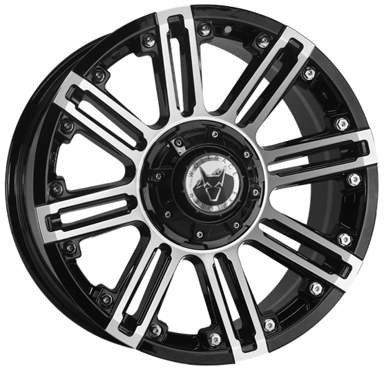 "20"" x 9"" Wolfrace Amazon Black & Polished ET30"