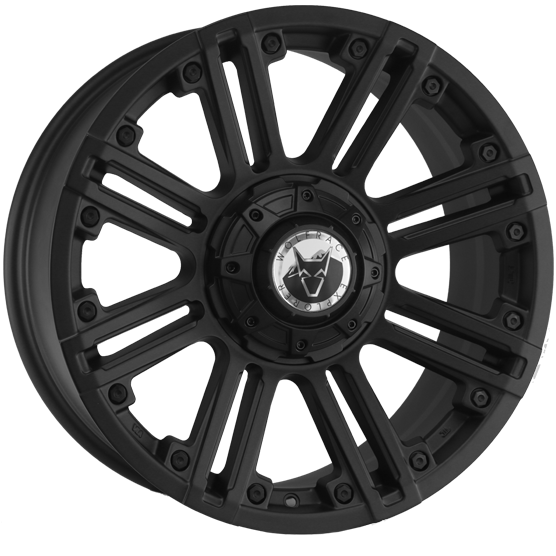 "20"" x 9"" Wolfrace Amazon Matt Black ET25"