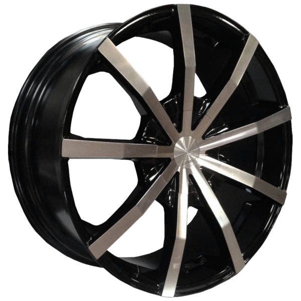 "22"" x 9.5"" Lenso Baron Black / Polished Face ET45"