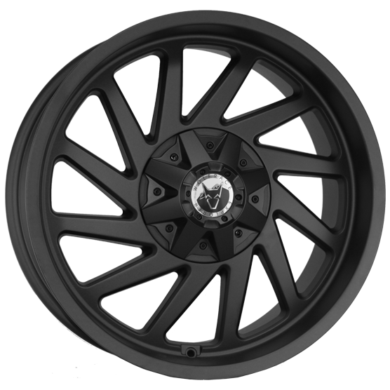 "20"" x 9"" Wolfrace  Wildtrek Matt Black ET25"