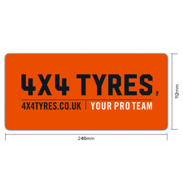 4x4 Tyres 4x4 Tyres Bumper Sticker 240mm x 112mm