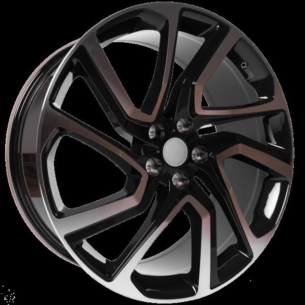 """22"""" x 9.5 OEM Style FJE23 Black & Polished ET45"""